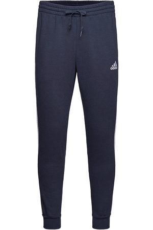 adidas Performance Essentials Fleece Fitted 3-Stripes Pants Joggebukser Pysjbukser Blå