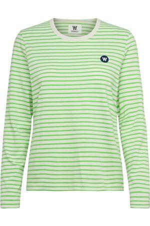 WoodWood Dame Langermede - Moa Stripe Long Sleeve T-shirts & Tops Long-sleeved