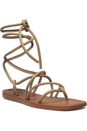 MANGO Turtle Shoes Summer Shoes Flat Sandals Beige