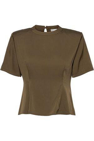 Gestuz Jennygz Ss Top T-shirts & Tops Short-sleeved Grønn