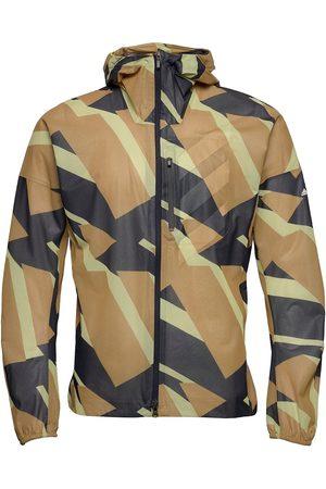 adidas Terrex Agravic Graphic 2.5 Layer Rain Jacket Outerwear Sport Jackets Gul