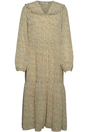 Moss Copenhagen Evette Ls Dress Aop Dresses Everyday Dresses Grønn