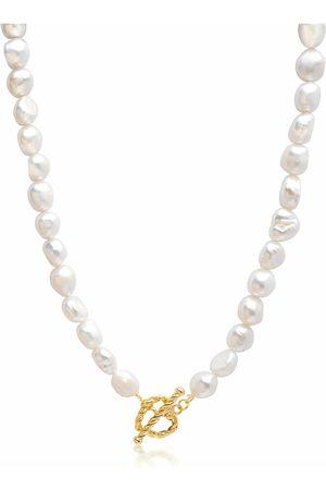 Nialaya Baroque Pearl Choker with Heart Clasp