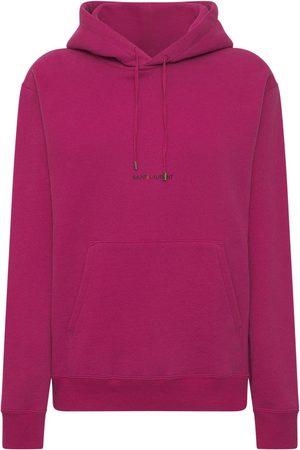 Saint Laurent Cotton Front Logo Hoodie