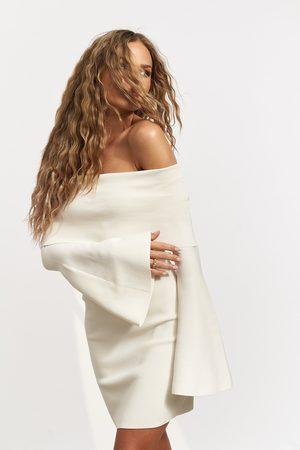 NA-KD Dame Strikkede kjoler - Strikket Minikjole Med Off Shoulder