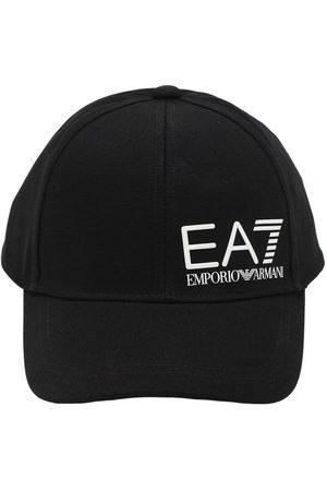 EA7 Logo Cotton Canvas Baseball Hat