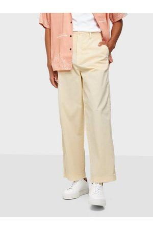 GANT D2. Wide Leg Cotton Chinos Bukser Cream