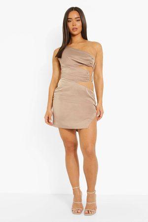 Boohoo One Shoulder Cut Out Mini Dress