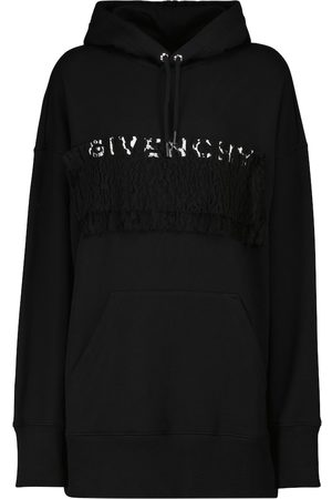 Givenchy Lace-trimmed cotton hoodie