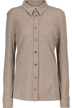 Bottega Veneta Dame Langermede - Virgin wool shirt