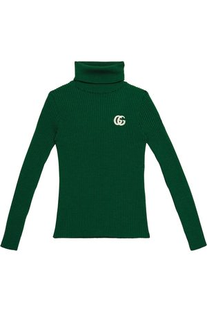 Gucci Jente Pologensere - GG ribbed-knit wool turtleneck sweater
