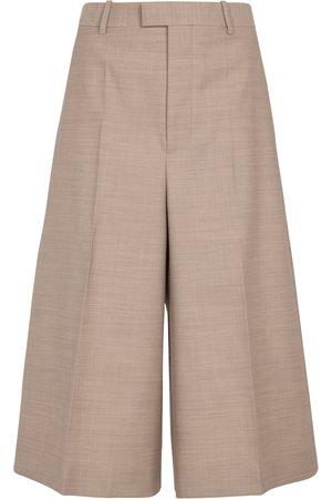 Bottega Veneta Dame Bermudashorts - High-rise wool Bermuda shorts