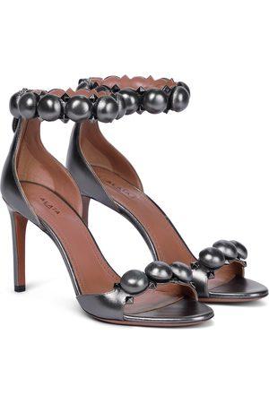 Alaïa Bombe metallic leather sandals