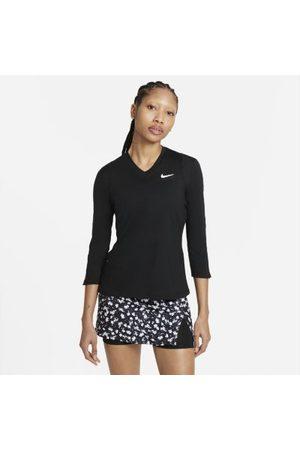 Nike Court Dri-FIT UV Victory tennisoverdel med 3/4 ermer til dame