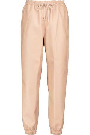 Stella McCartney Dame Joggebukser - Faux leather sweatpants