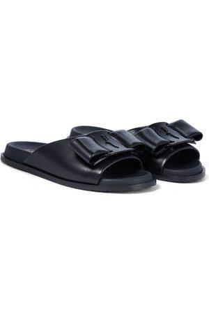 Salvatore Ferragamo Virgil Viva Bow leather slides
