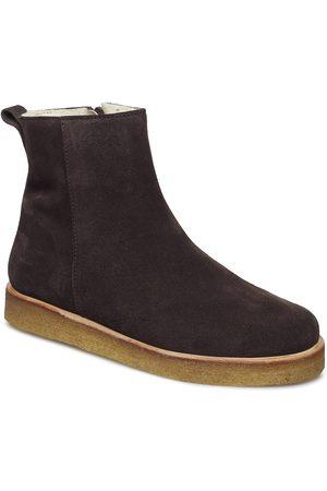 ANGULUS Dame Skoletter - Boots - Flat - With Zipper Shoes Boots Ankle Boots Ankle Boot - Flat