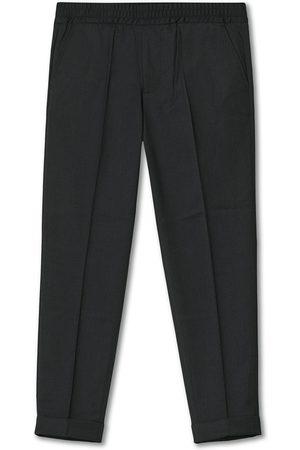 Filippa K Herre Chinos - Terry Gabardine Cropped Turn Up Trousers Antracite