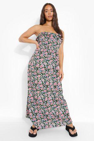 Boohoo Dame Maxikjoler - Floral Bandeau Maxi Dress