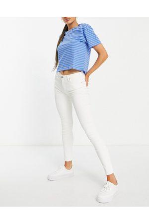 MANGO Slim jean in white