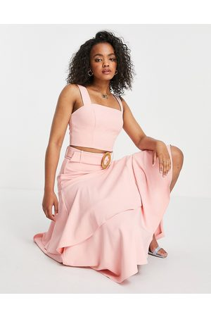 Forever New Square neck crop top co-ord in pink