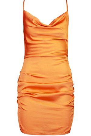 Boohoo Dame Bodycon kjoler - Florence Satin Cowl Neck Bodycon Dress