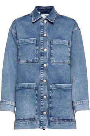 SELECTED Dame Denimjakker - Slfcatelin Mid Blu Ls Lon Jeans Jacket U Dongerijakke Denimjakke