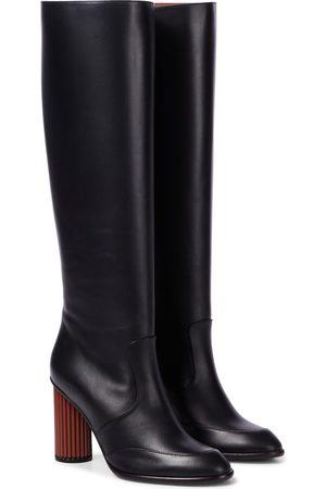 Loro Piana Column leather knee-high boots