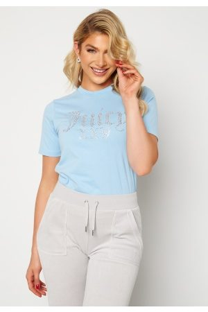 Juicy Couture Numeral T-Shirt Powder Blue XS