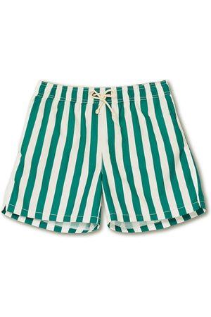 Ripa Ripa Herre Badebukser - Paraggi Striped Swimshorts Green/White