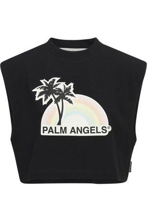 Palm Angels Lvr Exclusive Rainbow Cotton T-shirt