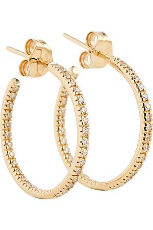 Sydney Evan 14kt gold hoop earrings with diamonds