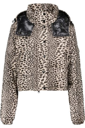 Moncler Avoine printed cropped down jacket