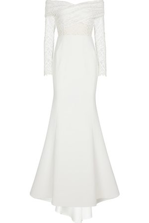 Rebecca Vallance Bridal Mia crêpe off-shoulder gown