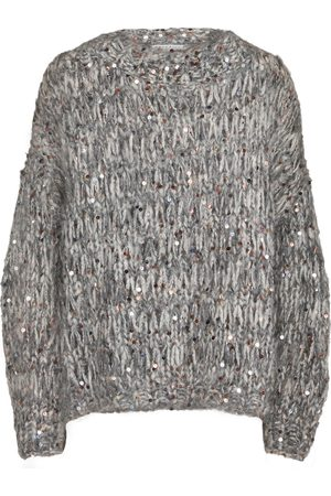 Brunello Cucinelli Dame Strikkegensere - Sequined mohair-blend sweater