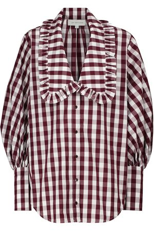 Lee Mathews Gingham cotton blouse