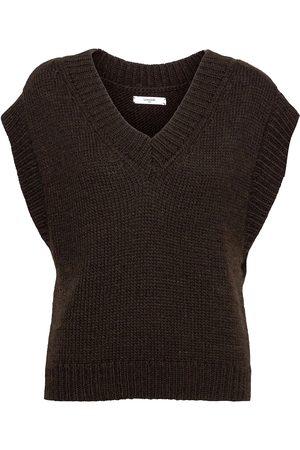 Lovechild Vea Waistcoat Vests Knitted Vests Brun