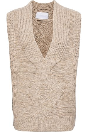 2nd Day 2nd Edition Seles Vests Knitted Vests Beige