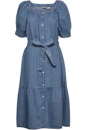 Levi's Mika Denim Dress Hey Friend 1 Knelang Kjole