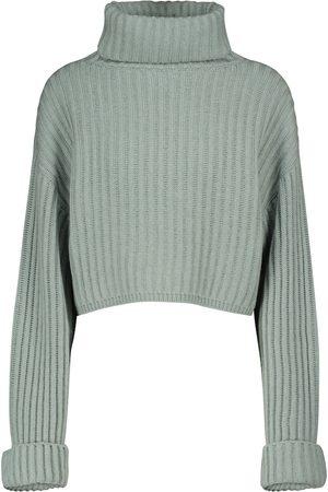 Brunello Cucinelli Dame Strikkegensere - Cropped cashmere sweater