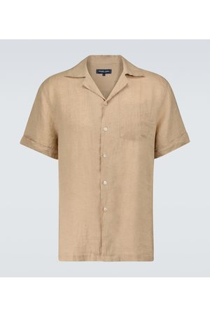 Frescobol Carioca Herre Kortermede - Thomas linen camp-collar shirt