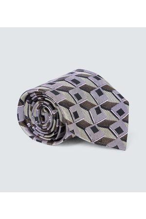 DRIES VAN NOTEN Printed silk tie