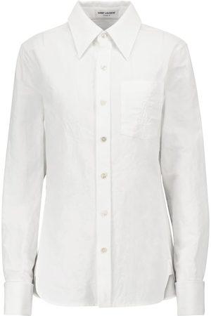Saint Laurent Dame Langermede - Cotton and linen shirt