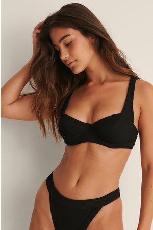 NA-KD Ribbet Bikini-Bh Med Brede Stropper