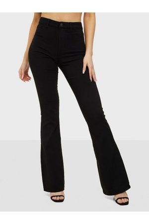 Pieces Dame Slengbukser - Pchighskin Flared Pant Blc Noos Bc