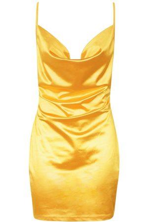 Boohoo Dame Bodycon kjoler - Satin Cowl Front Bodycon Dress