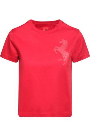 FERRARI STORE Dame Kortermede - Logo Cotton Jersey T-shirt