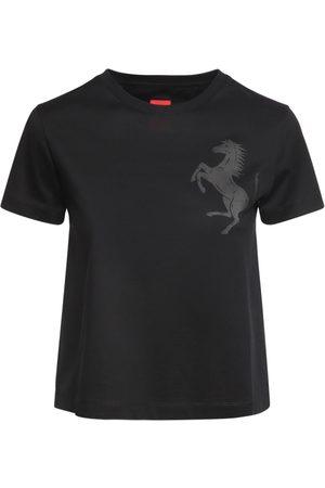 FERRARI STORE Logo Cotton Jersey T-shirt