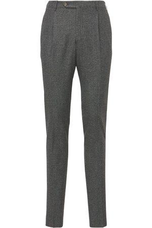 PANTALONI TORINO Super Slim Stretch Wool & Silk Pants