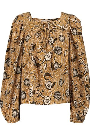 ULLA JOHNSON Issa printed cotton-blend blouse